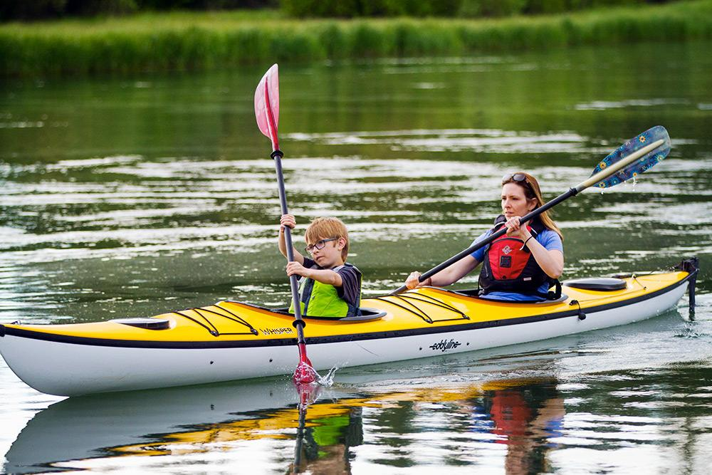 Eddyline Whisper CL Tandem Kayak - On the Water