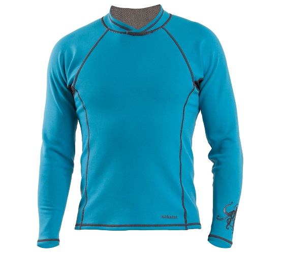 Kokatat NeoCore Long Sleeve Shirt - Men's/Electric Blue/Front View
