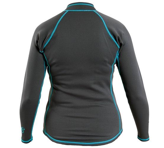 Kokatat NeoCore Long Sleeve Shirt - Women's/Graphite/Back View