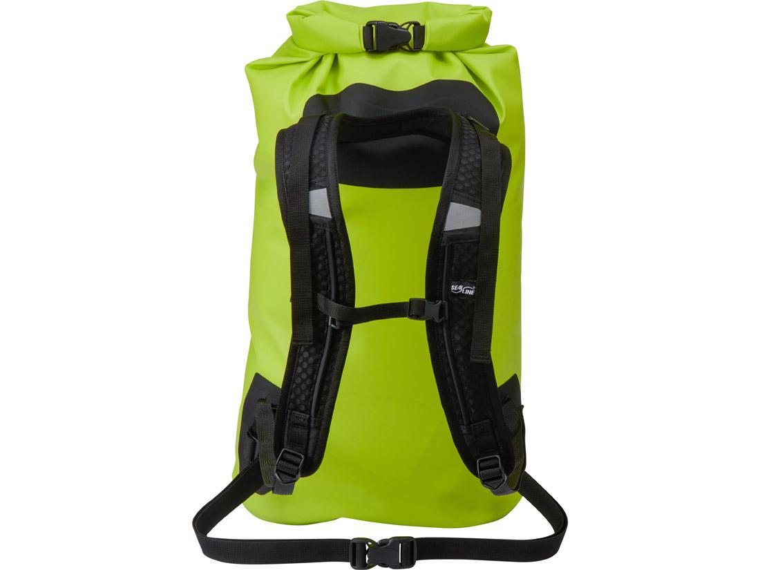 SealLine Bigfork Dry Daypack - Lime/Back View