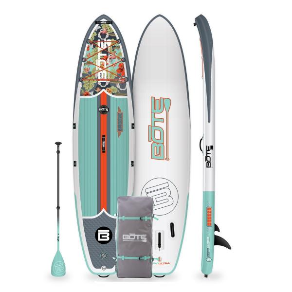 """BOTE Breeze Aero 11'6"""" Inflatable Paddle Board - Native Floral Jaws"""