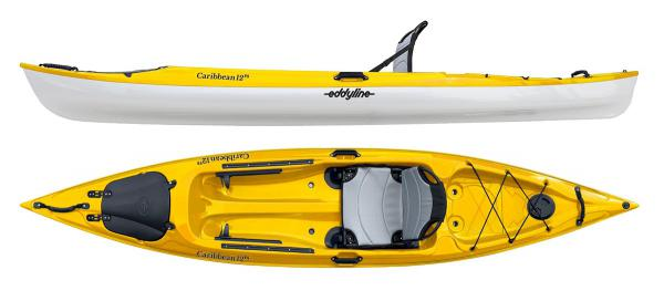 Eddyline Caribbean 12FS Kayak - Yellow / White