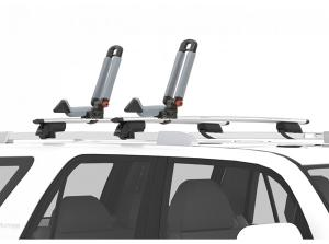 Yakima BowDown Kayak Carrier - Installed on Rack