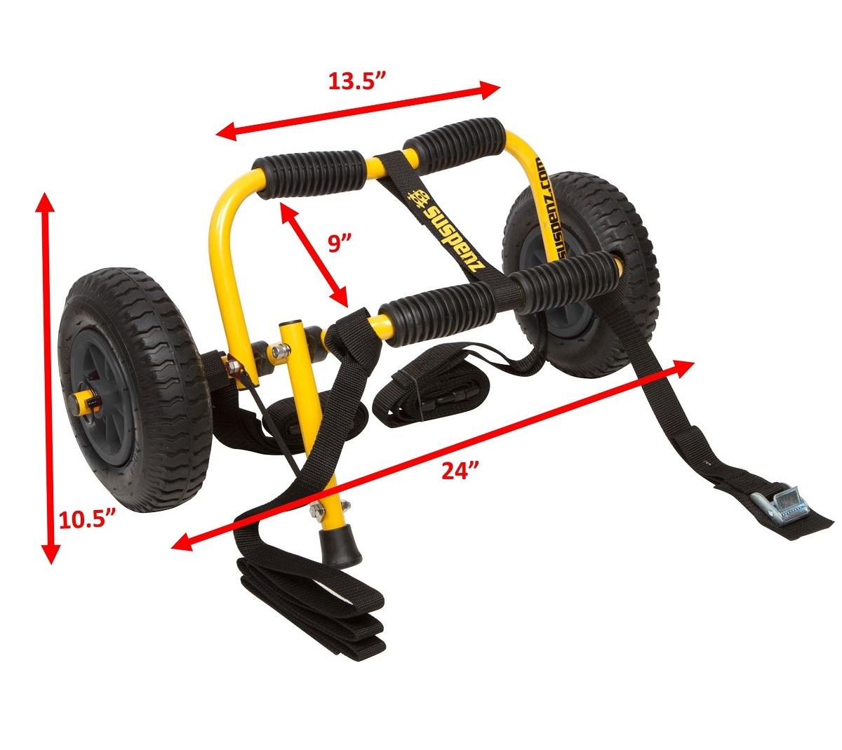 Suspenz Stowable Kayak SK Airless Cart - Dimensions