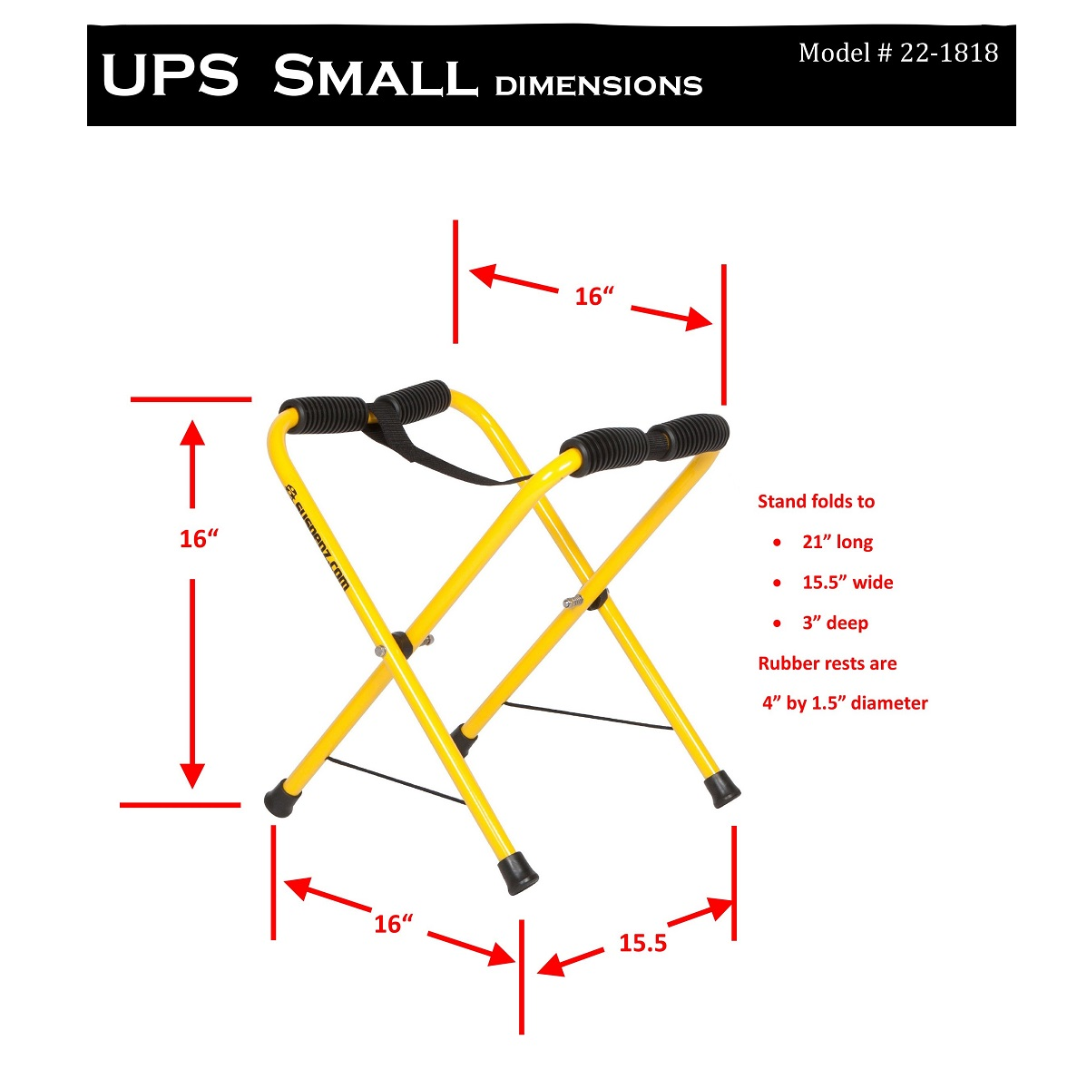 Suspenz Universal Portable Boat Stands - Small Dims