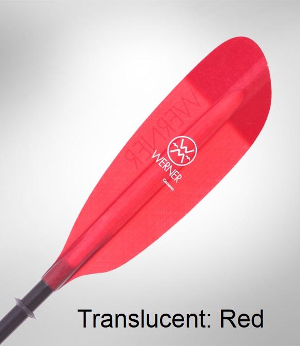 Werner Camano Kayak Paddle - Translucent Red
