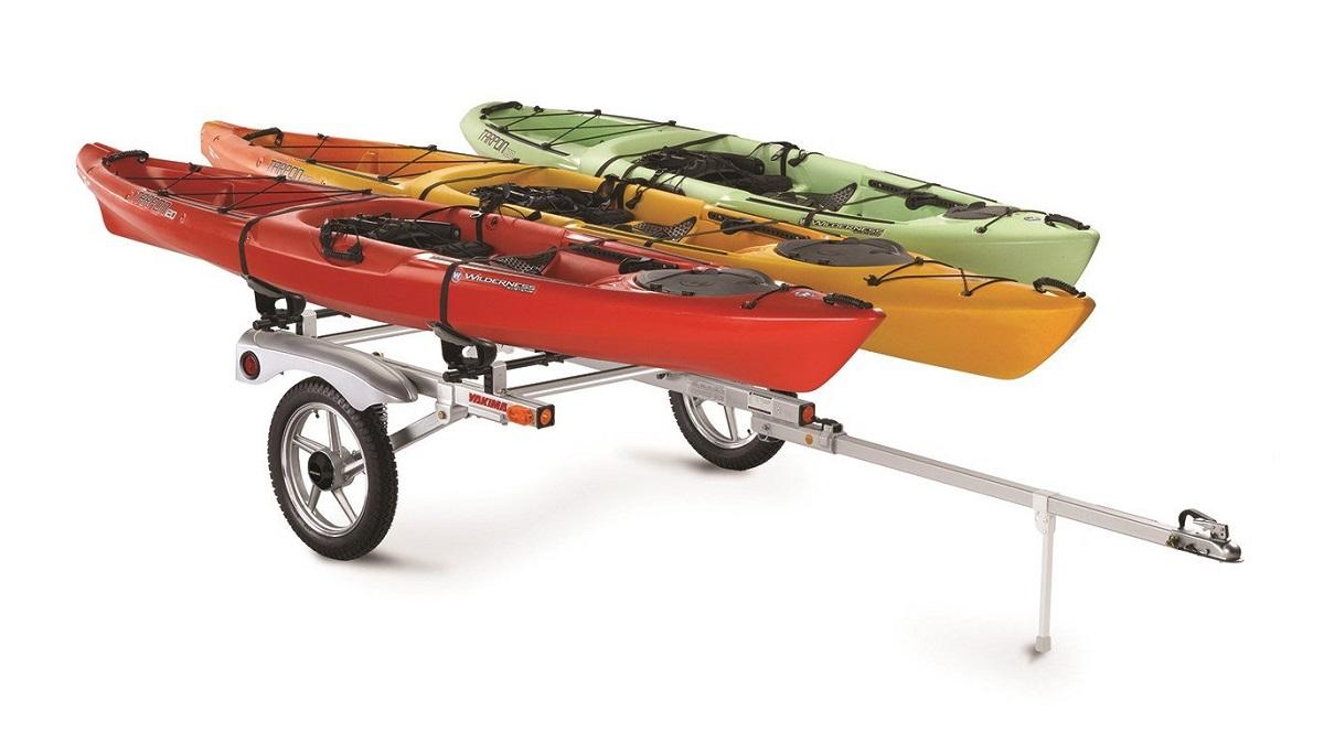 Yakima RackandRoll 78 Trailer - 3 Kayaks