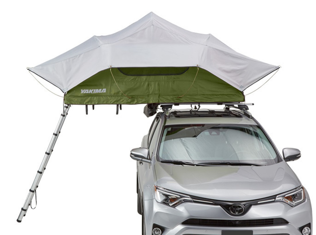 Yakima SkyRise Tent - Medium, With Fly, Side View